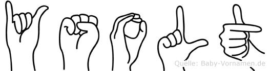 Ysolt im Fingeralphabet der Deutschen Gebärdensprache