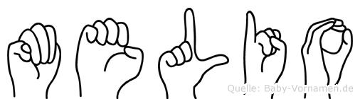 Melio in Fingersprache für Gehörlose