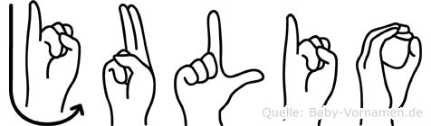 Julio in Fingersprache für Gehörlose