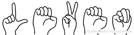Leven im Fingeralphabet der Deutschen Gebärdensprache