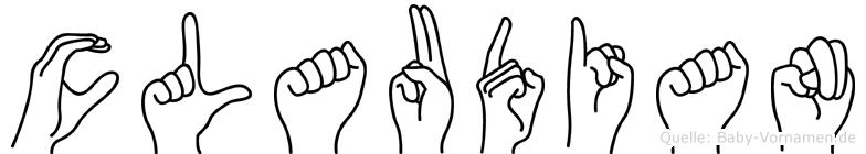 Claudian in Fingersprache für Gehörlose