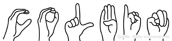 Colbin im Fingeralphabet der Deutschen Gebärdensprache