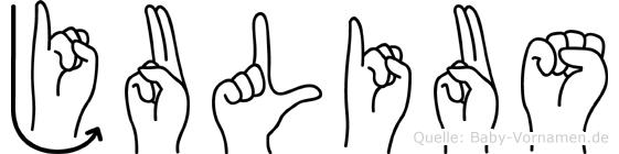 Julius in Fingersprache für Gehörlose
