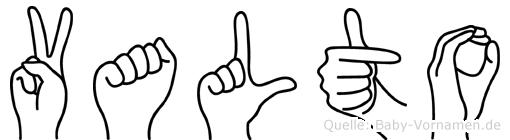 Valto im Fingeralphabet der Deutschen Gebärdensprache