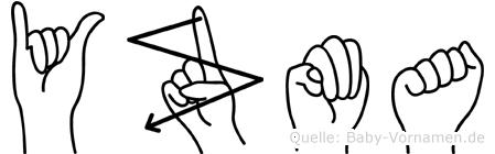 Yzma in Fingersprache für Gehörlose