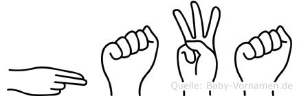 Hawa im Fingeralphabet der Deutschen Gebärdensprache