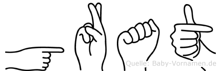 Grat in Fingersprache für Gehörlose