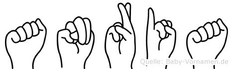 Anria im Fingeralphabet der Deutschen Gebärdensprache
