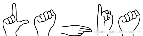 Lahia in Fingersprache für Gehörlose
