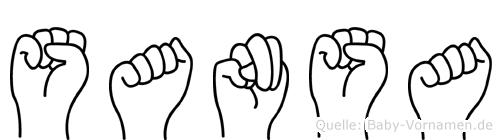 Sansa im Fingeralphabet der Deutschen Gebärdensprache