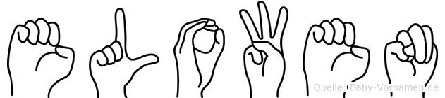 Elowen im Fingeralphabet der Deutschen Gebärdensprache