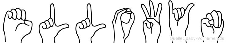 Ellowyn im Fingeralphabet der Deutschen Gebärdensprache