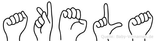 Akela im Fingeralphabet der Deutschen Gebärdensprache