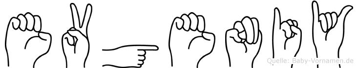 Evgeniy im Fingeralphabet der Deutschen Gebärdensprache