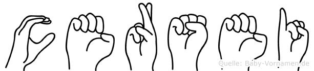 Cersei im Fingeralphabet der Deutschen Gebärdensprache