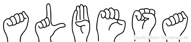 Albesa in Fingersprache für Gehörlose