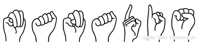 Manadis in Fingersprache für Gehörlose