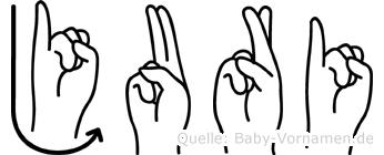 Juri im Fingeralphabet der Deutschen Gebärdensprache