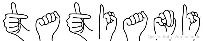 Tatiani in Fingersprache für Gehörlose