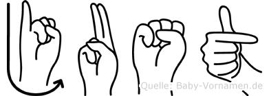 Just in Fingersprache für Gehörlose