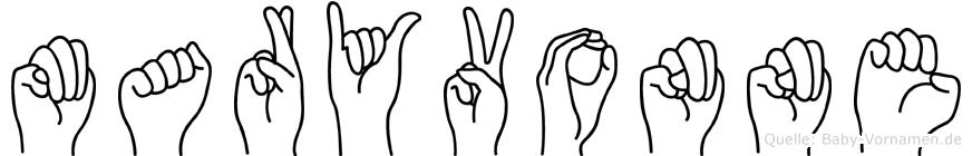 Maryvonne im Fingeralphabet der Deutschen Gebärdensprache