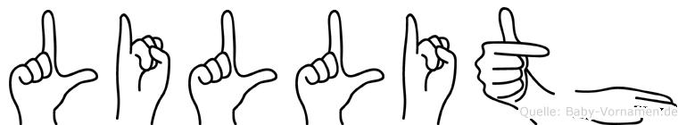 Lillith in Fingersprache für Gehörlose