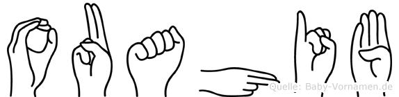 Ouahib im Fingeralphabet der Deutschen Gebärdensprache