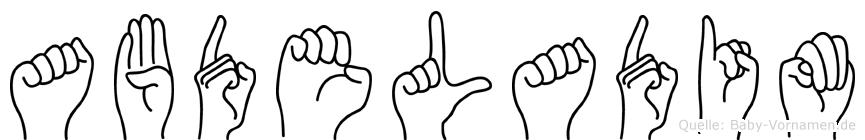 Abdeladim in Fingersprache für Gehörlose