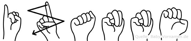 Izanne in Fingersprache für Gehörlose