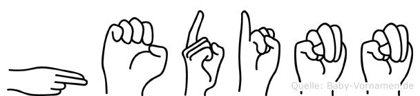 Hedinn in Fingersprache für Gehörlose