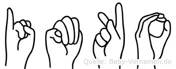 Imko in Fingersprache für Gehörlose