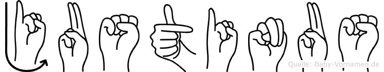 Justinus in Fingersprache für Gehörlose