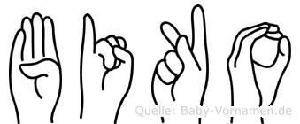 Biko in Fingersprache für Gehörlose