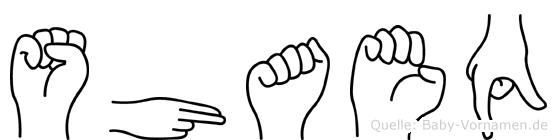 Shaeq im Fingeralphabet der Deutschen Gebärdensprache