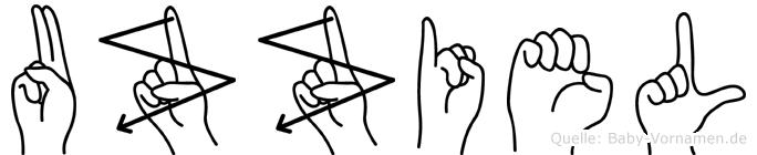 Uzziel in Fingersprache für Gehörlose