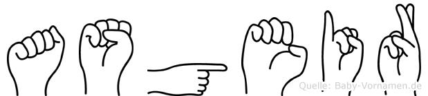 Asgeir im Fingeralphabet der Deutschen Gebärdensprache
