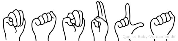Manula in Fingersprache für Gehörlose