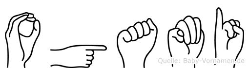 Ogami in Fingersprache für Gehörlose