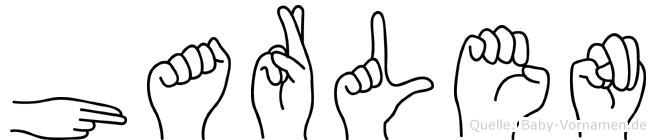 Harlen im Fingeralphabet der Deutschen Gebärdensprache