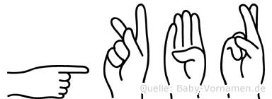 Gökbörü in Fingersprache für Gehörlose