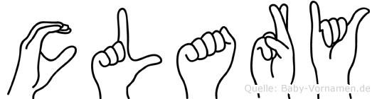 Clary im Fingeralphabet der Deutschen Gebärdensprache