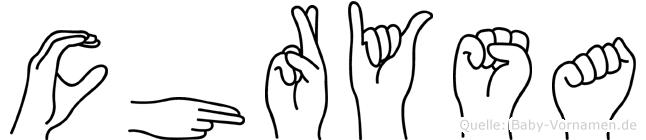 Chrysa in Fingersprache für Gehörlose