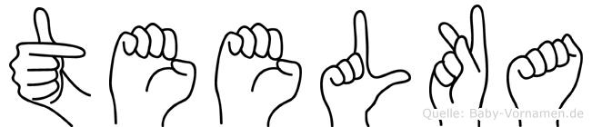 Teelka in Fingersprache für Gehörlose