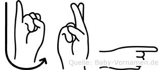 Jürg in Fingersprache für Gehörlose