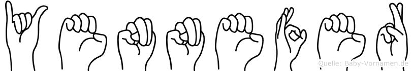Yennefer in Fingersprache für Gehörlose