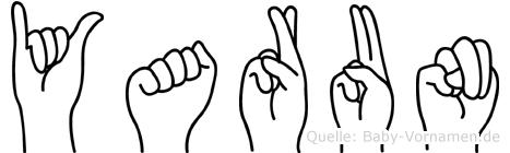 Yarun im Fingeralphabet der Deutschen Gebärdensprache