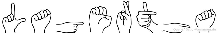 Lagertha in Fingersprache für Gehörlose