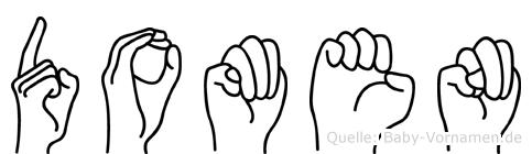 Domen im Fingeralphabet der Deutschen Gebärdensprache
