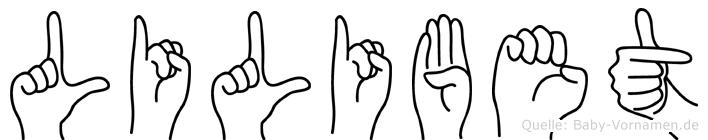 Lilibet in Fingersprache für Gehörlose