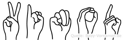 Vinod im Fingeralphabet der Deutschen Gebärdensprache